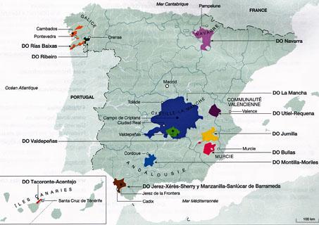 Carte Vin Espagne.Vins Espagnols Cherchent Distributeurs En France Claire En